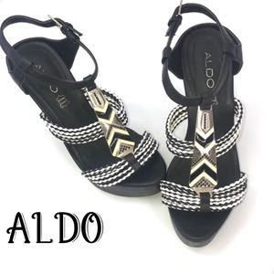 ALDO Wedges with ankle strap NWOT